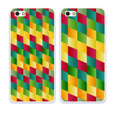 Phone case collectionVector retro colorful geometry pattern ab