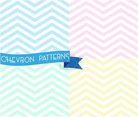 Set of zigzag seamless pattern.