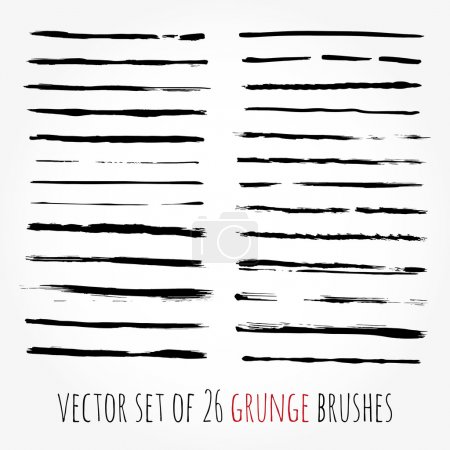 Big set of vector brushes. Abstract hand drawn ink strokes.