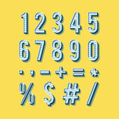 Alphabet numbers in vintage style