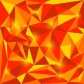 Jasně červené a oranžové podzimní barevné vektorové trojúhelníkové geometrické pozadí abstraktní s do očí bijící světla pro použití v designu pro kartu, pozvánka, plakát, banner, transparent nebo billboard kryt