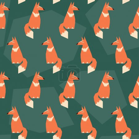 abstract seamless pattern background with funny cartoon ginger f