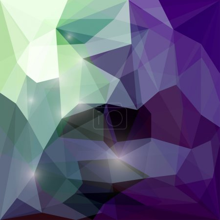 Abstract polygonal vector triangular geometric background with glaring lights for use in design for card, invitation, poster, banner, placard or billboard cover