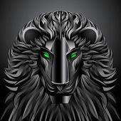 Animals lion black technology cyborg  metal profile robot