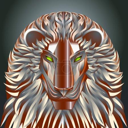 animals lion red technology cyborg  metal robot