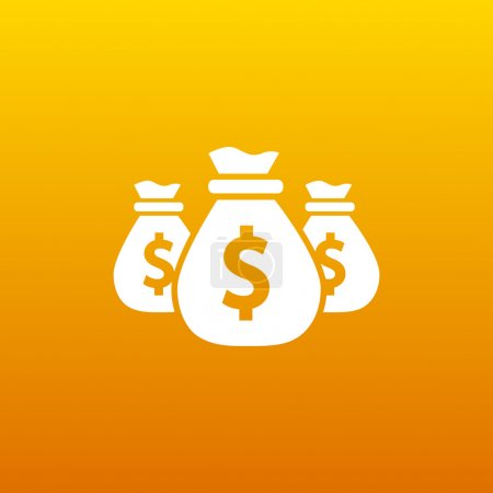 Vector money bags Easy to edit layers icon funds b...