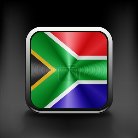 South African flag national travel icon country sy...