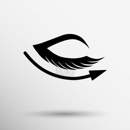 vector eye with lashes long eyelashes icon