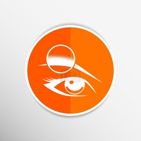 Human eye vector isolated eye eyebrow human vector female makeup beauty eyesight