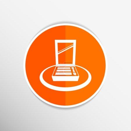 Palette liquid lipsticks flat square icon with