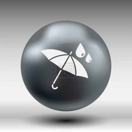 Waterproof icon water proof vector symbol umbrella...