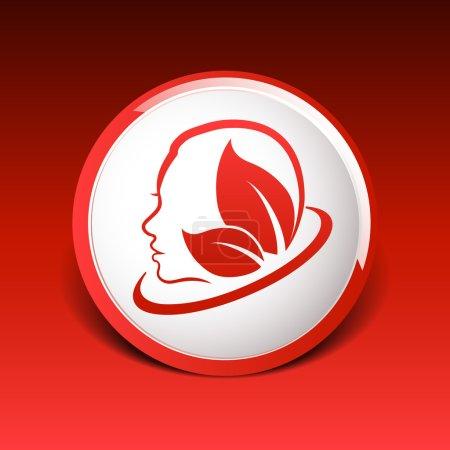 Women health, beauty and treatment symbols, emblem...
