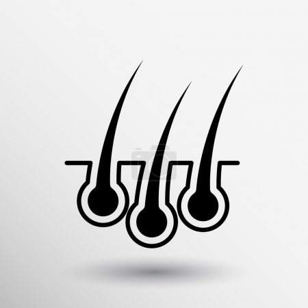 Illustration for Hair icon isolated human removal grow medical bulb. - Royalty Free Image