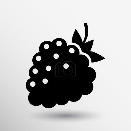 Illustration pour Modèle de logo vecteur framboise. Concept de design abstrait pour les produits biologiques naturels, aliments, marché aux fruits, café . - image libre de droit