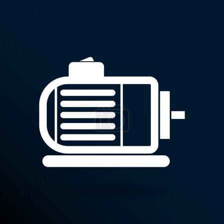 Illustration pour Moteur électrique icône vecteur moteur symbole puissance . - image libre de droit