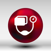 Tonometr ploché ikony. Kontrola krevního tlaku, lékařské