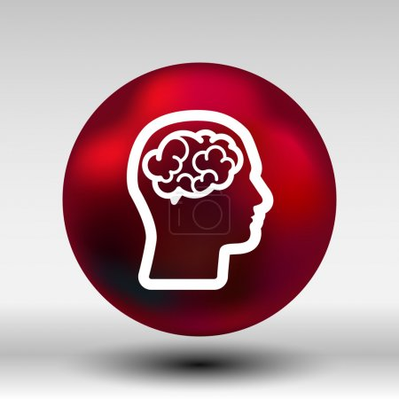 Head brain icon think design over vector illustration