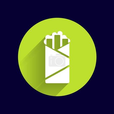 shawarma vector design template logo food roll