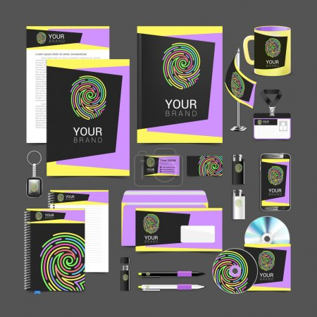 set design Gift template Corporate identity fingerprint