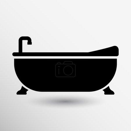Bathtub bath icon vector button logo symbol concept