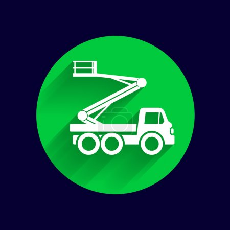 Construction Machines icon vector button logo symbol concept
