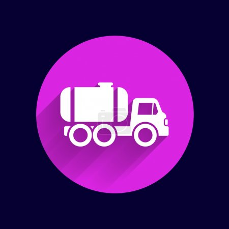 truck auto barrel icon vector button logo symbol concept