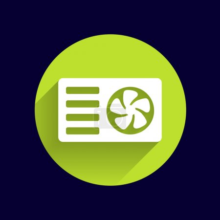 Air conditioner icon vector button logo symbol concept