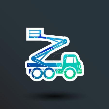 Construction Machines icon vector button logo symbol concept