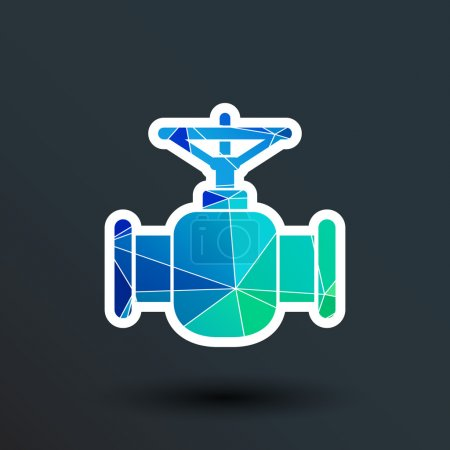 Illustration for Pipeline icon vector button logo symbol concept. - Royalty Free Image