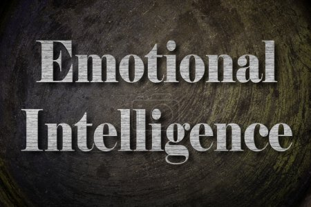 Photo for Emotional Intelligence Text on Background - Royalty Free Image