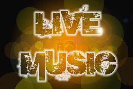 Foto de Texto concepto de la música en vivo en el fondo - Imagen libre de derechos