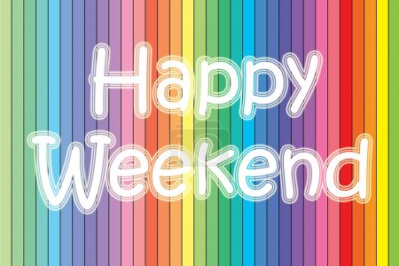 Photo for Happy Weekend blackboard - Royalty Free Image