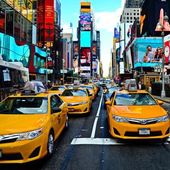 Traffico su Times Square a New York City