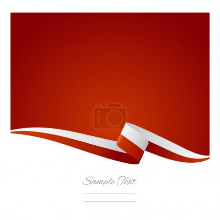 Illustration for Abstract color background Polish flag - Royalty Free Image