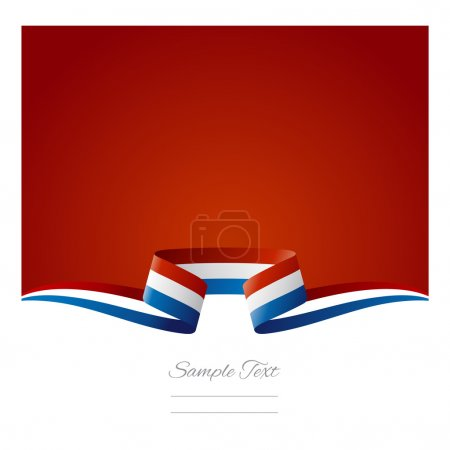 Abstract background French flag ribbon