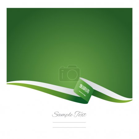 Abstract color background Saudi Arabia flag