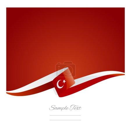 Illustration pour Nouveau vecteur abstrait de ruban drapeau de Turquie - image libre de droit