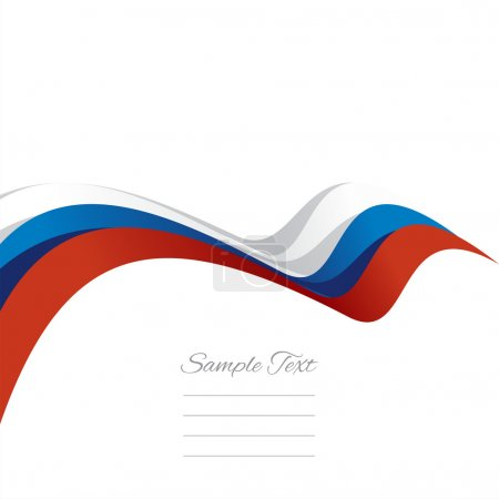 Abstract cover Russian ribbon white background vector