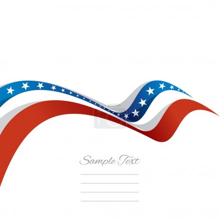 Abstract cover US ribbon white background vector