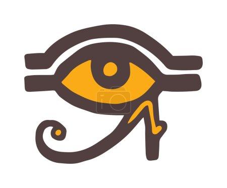 Egypt God Ra vector symbol. Sun EYE OF Egypt God R...
