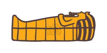 Pharaoh sarcophagus vector. Pharaoh sarcophagus il...