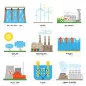 Energy sources vector illustration