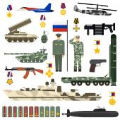 Russian Army vector set