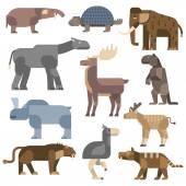 Ice age animals vector illustration