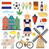 Netherlands vector set