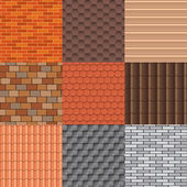Roof tiles and roof texture vector set