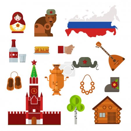 Russia vector set