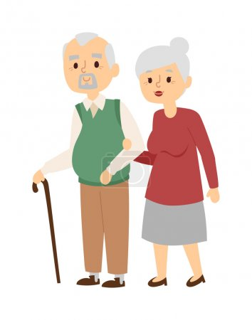 Aged people vector illustration.