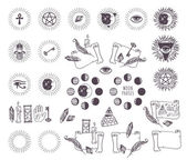 Astrology esoteric vector icons