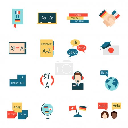 Languages education and school learning vector.